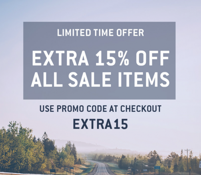 15% extra korting op Sale